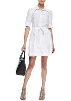 Cleo Tie-Waist Shirtdress   Cleo Tie-Waist Shirtdress