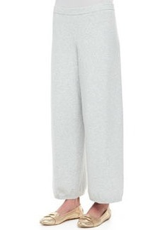 Joan Vass Wide-Leg Knit Pants, Women's