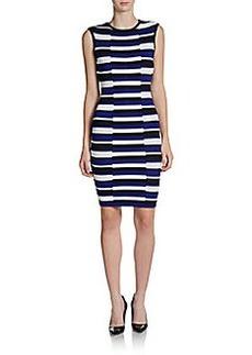 Calvin Klein Striped Knit Sheath