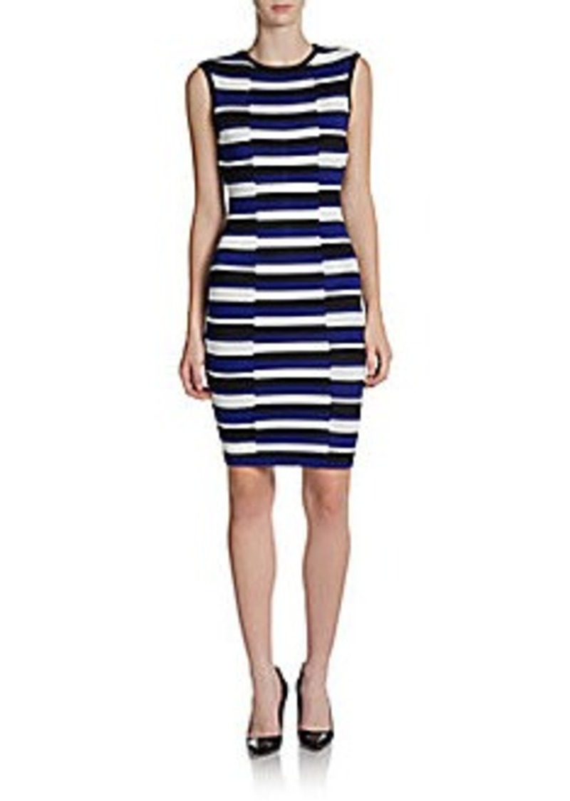 Calvin Klein Striped Knit Sheath