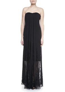 Francesca Lace-Inset Strapless Maxi Dress   Francesca Lace-Inset Strapless Maxi Dress