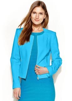 Calvin Klein Petite Collarless Zip-Front Jacket