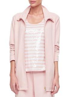 Joan Vass Long Sleeve Jog Jacket, Women's