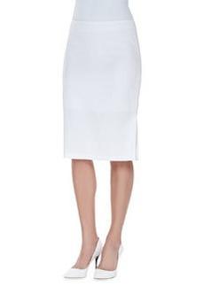 Escada Skirt with Kickback Detail, White