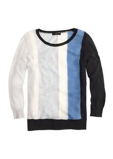 Merino wool texture-panel sweater