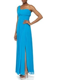 Laundry by Shelli Segal One-Shoulder Billowy Chiffon Gown, Tahiti