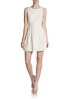 Joie Soleil Sleeveless Eyelet Dress