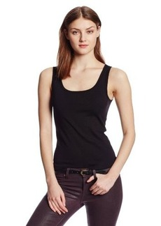 Three Dots Women's Cotton Knit Rocker Tank