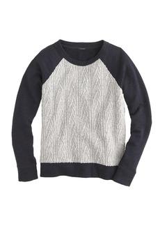 Cabled sweatshirt