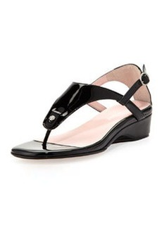 Taryn Rose Kat Patent Leather Strappy Sandal, Black