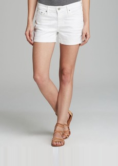 AG Adriano Goldschmied Shorts - The Hailey Ex Boyfriend Roll-Up in 1 Year White
