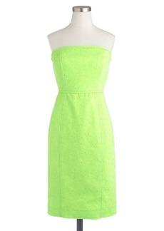 Strapless matelassé dress