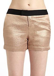 Derek Lam Satin Metallic Shorts