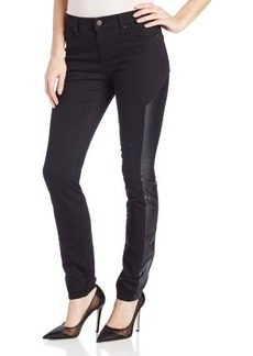 DKNY Jeans Women's Faux-Leather Pieced Legging