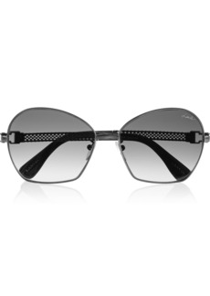 Lanvin Round-frame metal sunglasses