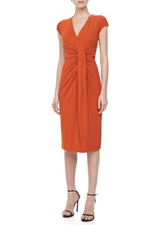 Michael Kors Jersey Faux-Wrap Dress, Paprika