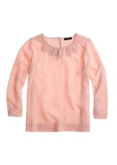 Silk petal blouse