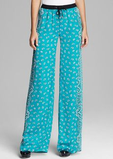 MICHAEL Michael Kors Bandana Print Wide Leg Pants