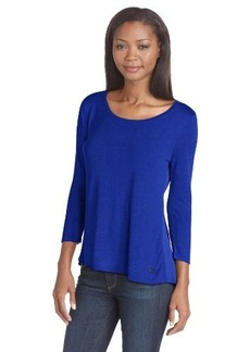Calvin Klein Women's Mixed-Media Pullover Top