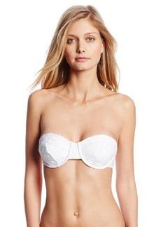 Nanette Lepore Women's Ooh La La Eyelet Underwire Bikini Top