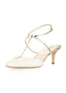 Low-Heel T-Bar Ankle-Strap Sandal   Low-Heel T-Bar Ankle-Strap Sandal