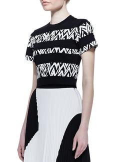 Proenza Schouler Short-Sleeve Abstract-Stripe Top