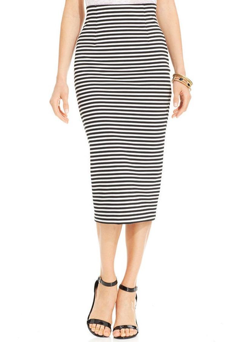 xoxo xoxo high waist striped midi pencil skirt skirts
