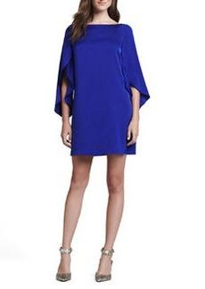 Butterfly-Sleeve Shift Dress, Cobalt   Butterfly-Sleeve Shift Dress, Cobalt