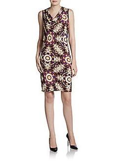 Ellen Tracy Cowlneck Sheath Dress