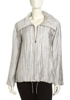 Lafayette 148 New York Gray Linen Jacket, Vapor
