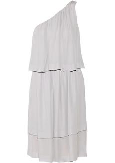 Chloé One-shoulder tiered silk-georgette dress