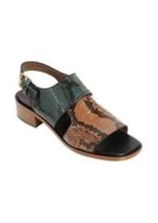 Marni Python Colorblock Slingback Sandal