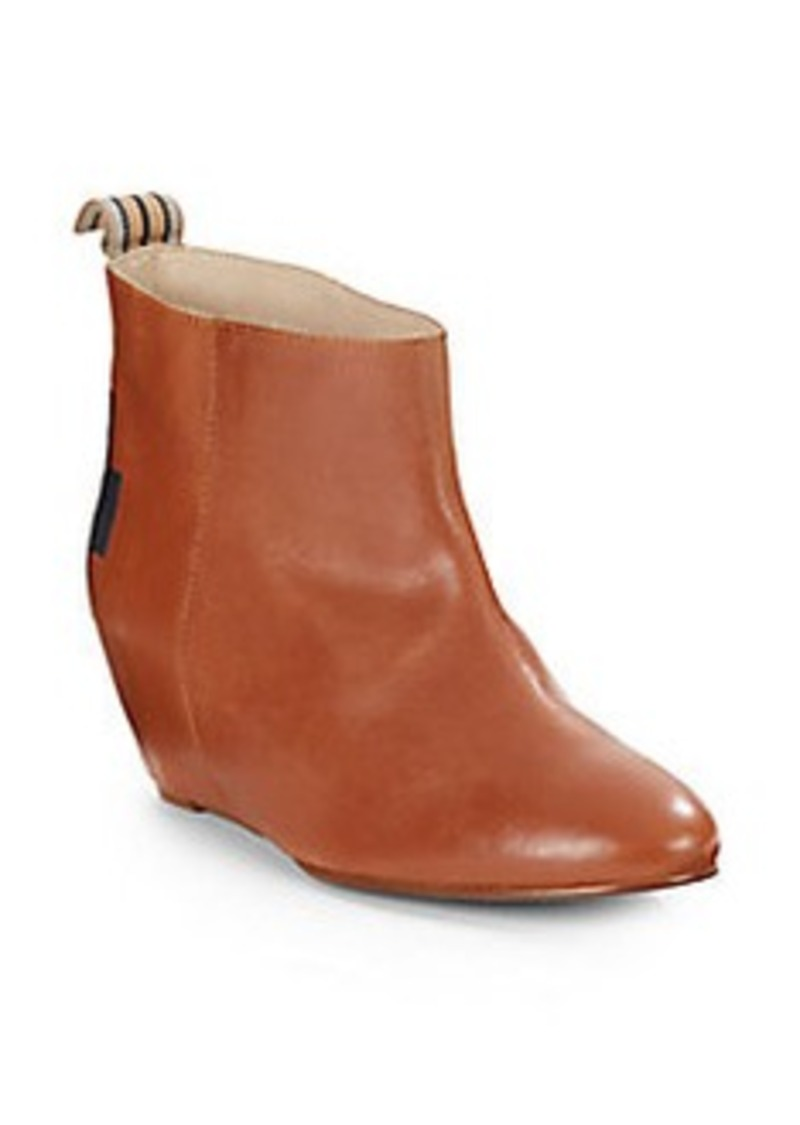 candela candela oles covered wedge leather ankle boots