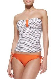 Splendid Tie-Side Swim Bottom, Orange