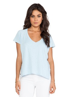 Velvet by Graham & Spencer Angelique Cotton Slub Tee in Blue