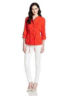 Jones New York Women's Utility Jacket with Draw Cord