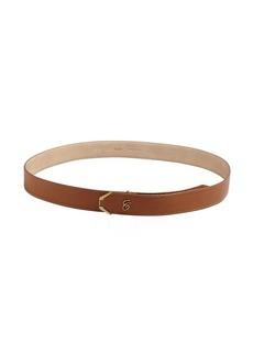 Chloe nutmeg leather 'C' belt