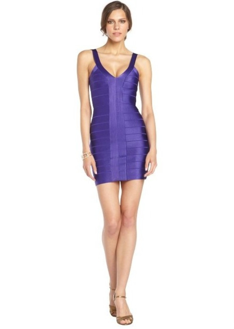French Connection electric purple stretch 'Foxy Faye' body con dress