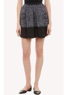 Proenza Schouler Tweed Colorblock Full Skirt