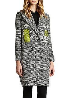 Diane von Furstenberg Nala Tweed-Print Coat