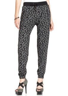 XOXO Animal-Print Jogger Pants