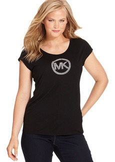 MICHAEL Michael Kors Plus Size Short-Sleeve MK-Logo Tee