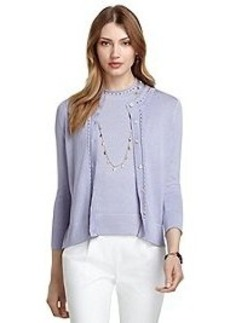 Silk and Cotton Chain Cable Cardigan