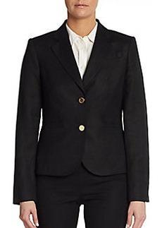 Calvin Klein Linen Two-Button Blazer