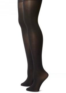 Steve Madden Legwear Women's 2 Pack Opaque Footed Tight