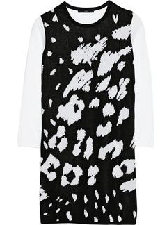 Tibi Jacquard-knit cotton and modal-blend sweater