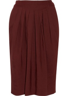Chloé Pleated wool-blend skirt