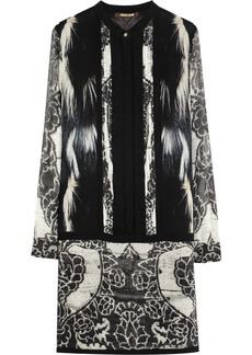 Roberto Cavalli Printed silk-georgette dress