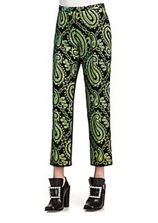 Marc Jacobs Satin-Back Jacquard Pants