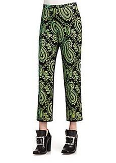 Marc Jacobs Satin-Back Jacquard Pants